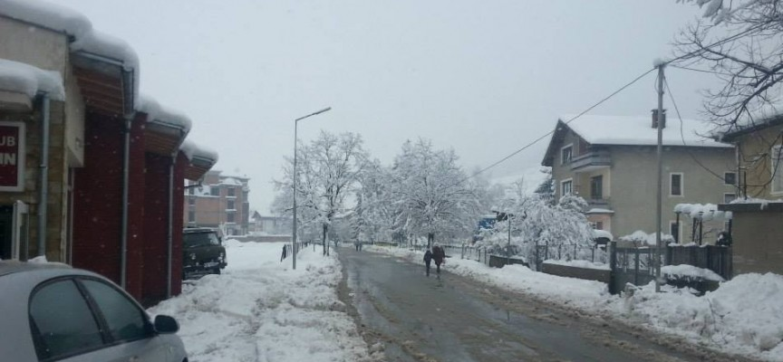 Снегът ни блокира, падат клони