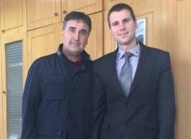 Зам. областният Стефан Мирев се щракна с Веско Маринов