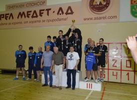 Асарелци с второ място в мъжката Висша лига по тенис на маса.