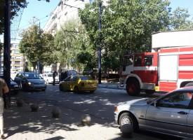 Кола пламна пред Адвокатурата
