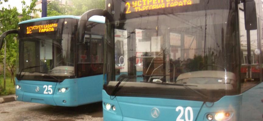 Профилактиката на тролейбусната мрежа продължава и през този уикенд