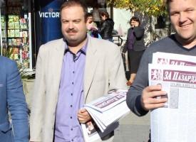Кандидат – кметът Трендафил Величков и кандидат – общински съветници от АБВ изслушаха проблеми в центъра и градския пазар