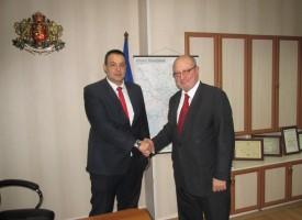 Министър Танев се срещна с областния управител Трендафил Величков