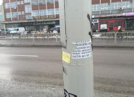В Пещера: Четирима нарушили кметската забрана за лепене на реклами по стълбовете
