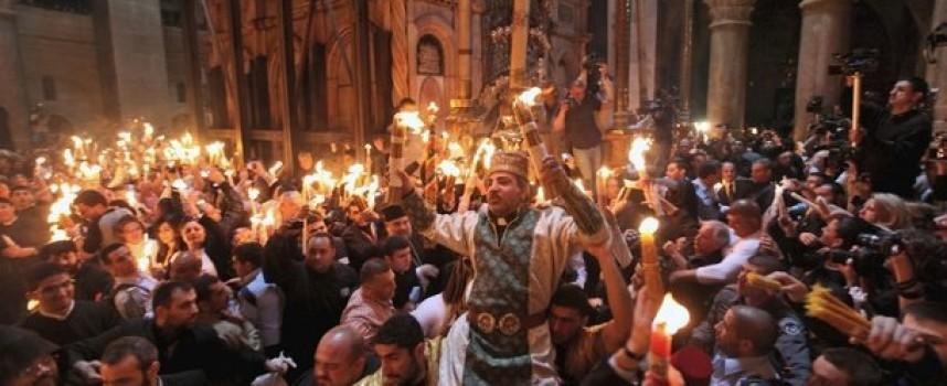 Вижте спускането на Благодатния огън в Йерусалим