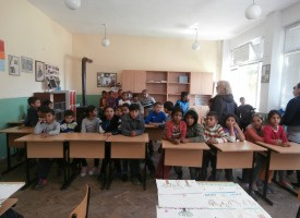 Флупи гостува на децата в Динката