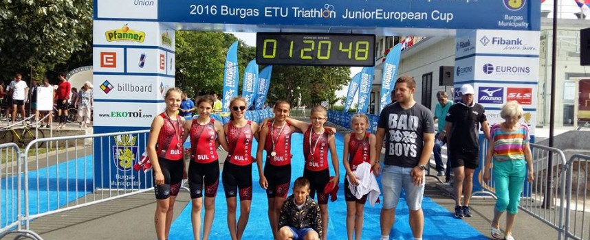 """2 сребърни и бронзов медал от Европейското по триатлон за СК""""Шампион"""""""