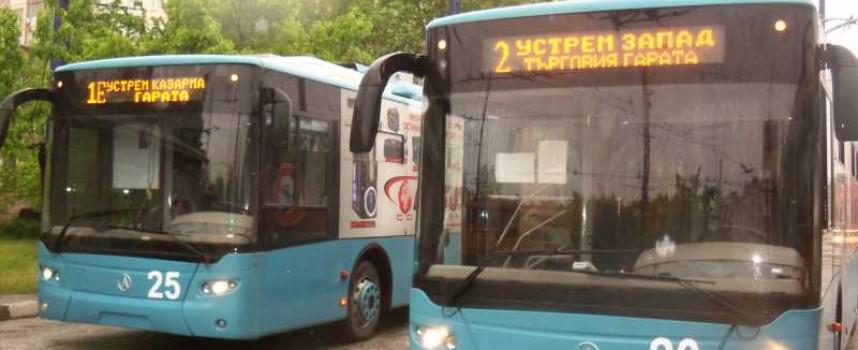 В събота и неделя: Автобуси сменят тролеите, правят профилактика на контактната мрежа