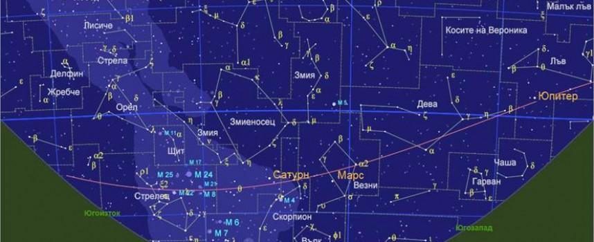 Тази вечер: Юпитер съвпада с Луната