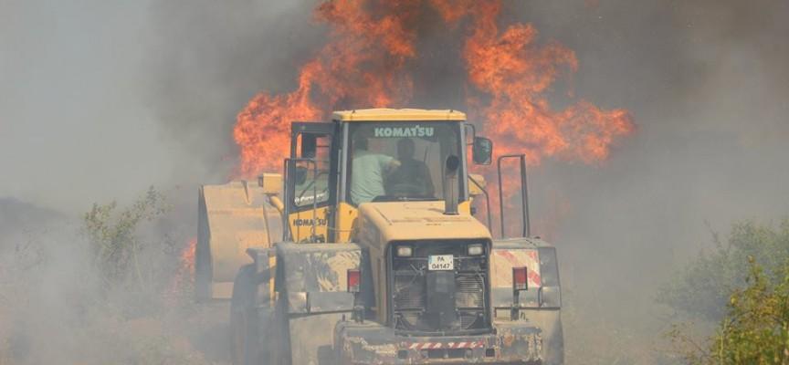 Гигантски пожар вилня край Ветрен от вчера по обяд до днес сутринта