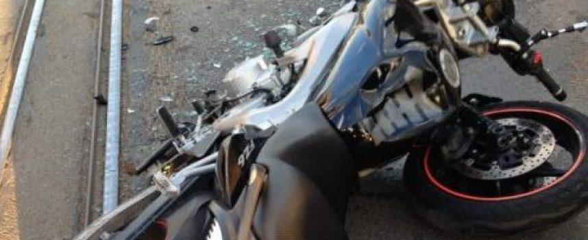 Мотоциклетист от Панагюрище се превъртя на пътя Девин – Кричим, отърва се с натъртвания