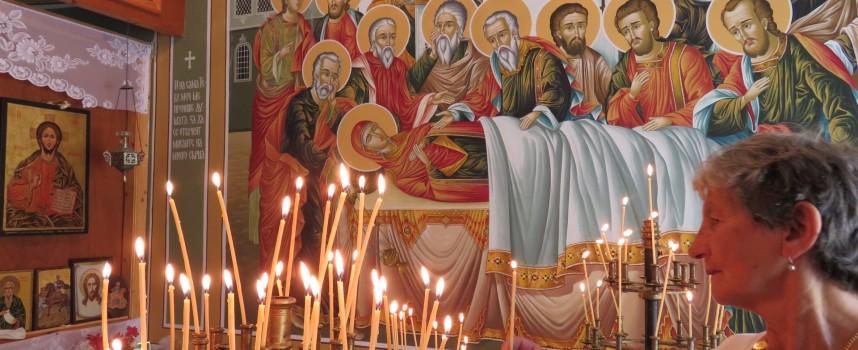 Ангел възвестил с райско клонче предстоящата смърт на Богородица