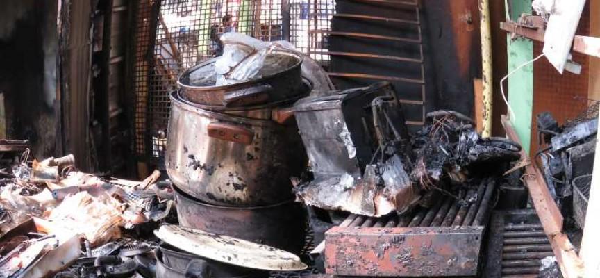 Пожар овъгли стока за 7000 лв. на пазара