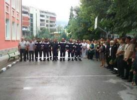 В Белово: С едноминутно мълчание почетохме загиналия пожарникар Кръстьо Стоянов