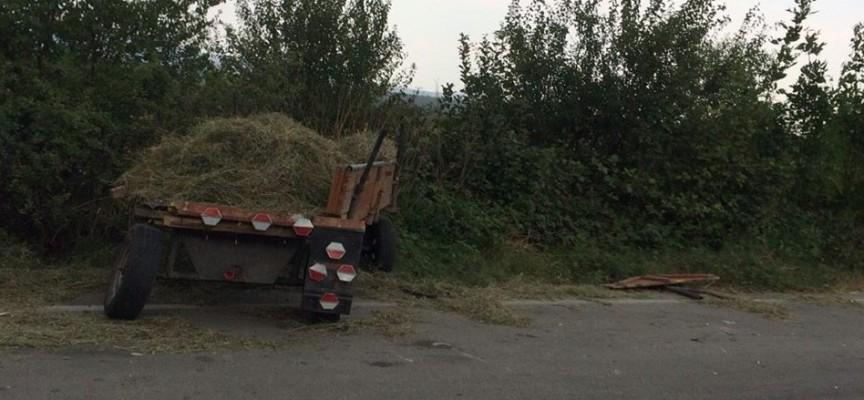 Каруца предизвика катастрофа на пътя между Карабунар и Виноградец