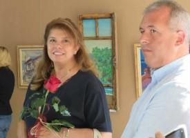 Илияна Йотова посети изложбата на Константин Анастасов