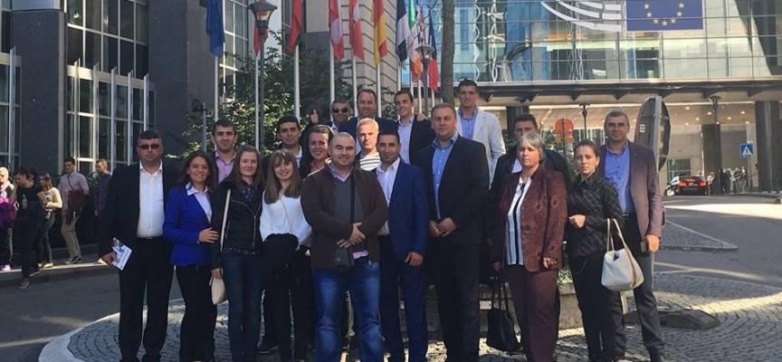 Неби Бозов и делегация от Сърница са на посещение в Брюксел