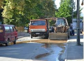 """Авария наводни ул. """"Кочо Честименски"""" в Пазарджик"""