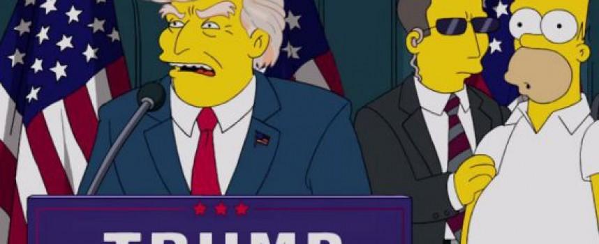 """""""Семейство Симпсън"""" издигнали Тръмп още преди 16 години"""
