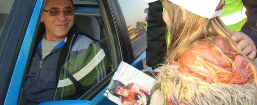 Малчуганите с акции по пътна безопасност