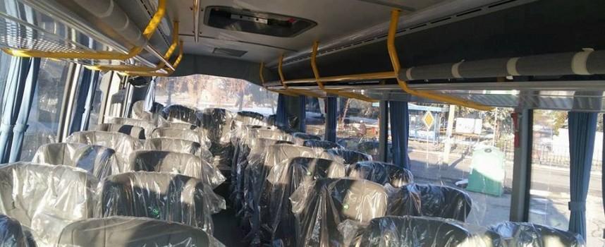 Пристигна новият автобус за училището в Карабунар