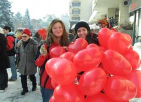 Пазарджик: Валентинки и презервативи за деня на влюбените в центъра