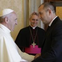 Президентът Румен Радев се срещна с папата