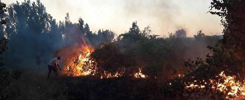 Пожар вилня край Карабунар