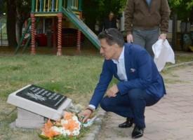 """Паметната плоча на поручик Чунчев бе открита в градинката пред """"Аксаков"""""""