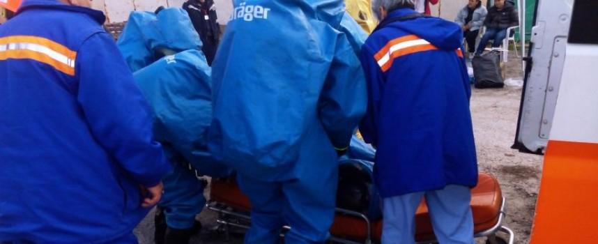 Мащабно учение на Пожарната събра полиция, доброволци и лекари в Пазарджик