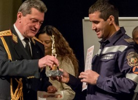 Зам.-министър Стефан Балабанов награди отличените пожарникари, мл.инспектор Венци Спасов също