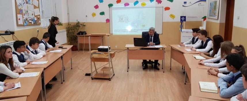 """Кметът на Пещера беше гост на """"Коридор Европа"""" в гимназия """"Иван С. Аксаков"""""""
