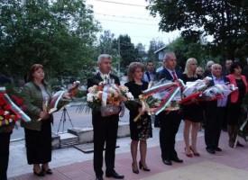 """Народният представител от """"БСП за България""""  Йордан Младенов почете паметта на героите от Април 1876 в село Капитан Димитриево"""