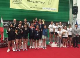Сребърни медали за пазарджишките бадминтонистки от Държавното отборно първенство
