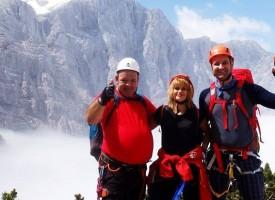 Пещера: Мария Дамянова, Душко Балабанов и Любомир Брациклиев покориха връх Триглав в Словения