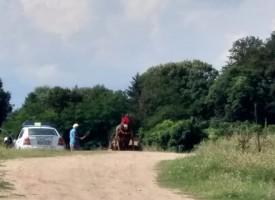 Роми изнасят незаконно пясък от Марица