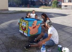 """Учениците от ОУ """"Св. Климент Охридски"""" разкрасиха училищния двор ден преди първия школски звънец"""