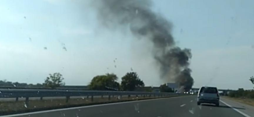 Отново: Кола пламна на магистралата