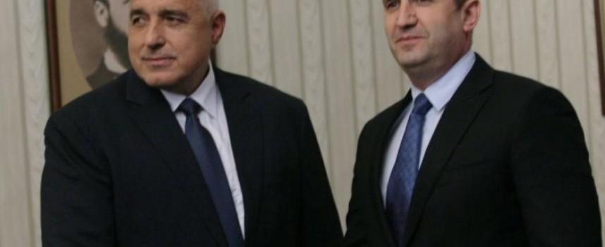 Премиерът Борисов ще се срещне с президент Радев, за да му представи управленската си програма
