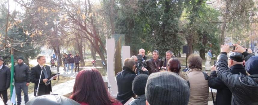 Пазарджик вече има паметник на Военните кореспонденти