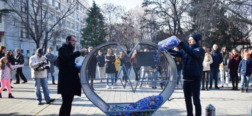 УТРЕ: Точно в 10 ч. ела при Сърцето, носи пластмасови шишета, кенчета и хартия, отваряме пункт за рециклиране