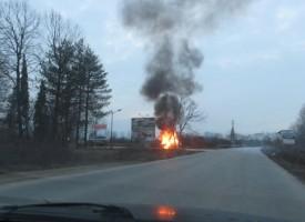 """Колата до """"Фазанарията"""" се е самозапалила, водачът ѝ сам подал сигнал на 112"""