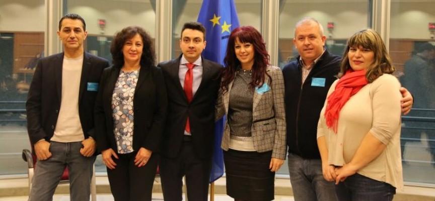 Делегация от БСП от Област Пазарджик посети ЕП по покана на евродепутата Момчил Неков