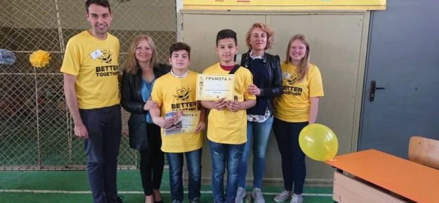 Възпитаниците на Спортното с отлично представяне и на състезанието по английски правопис Spelling Bee