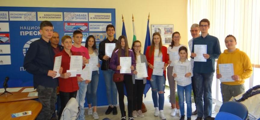"""Таланти получиха стипендиите си от """"Надежда на Пазарджик"""""""