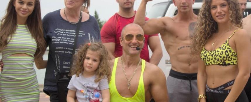 Киро Скалата открива фитнес залата в Црънча