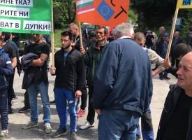 Нова махала отново излезе на протест на пътя Пещера – Батак