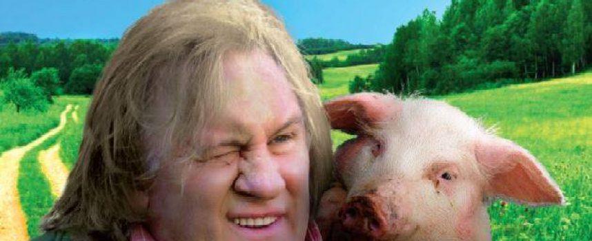 През 2016 г. пророческо: Жерар Депардио снима в България филм за прасе, за да не го колят бяга в Турция