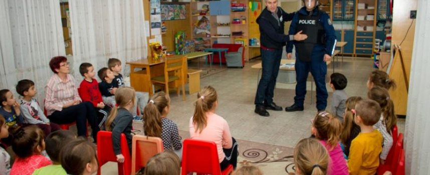 Служители на Охранителна полиция гостуваха в две детски градини