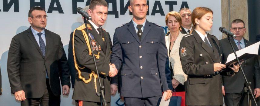 """Пътен полицай Костадин Коев получи награда от министерството в церемонията """"Полицай на годината 2019"""""""